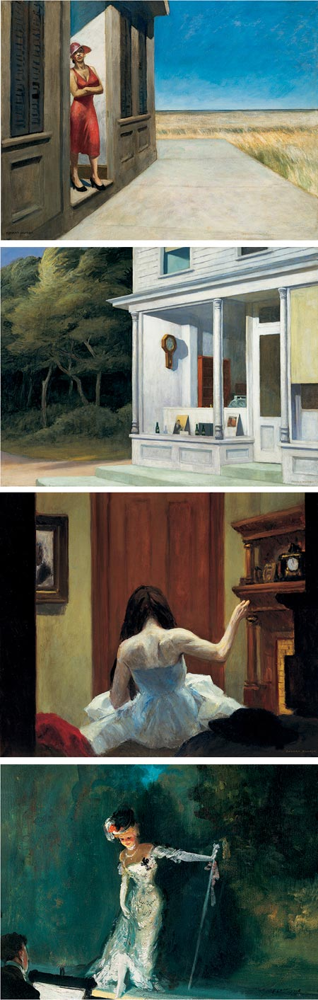 Modern Life: Edward Hopper and His Time, top three: Edward Hopper, bottom: Everett Shinn