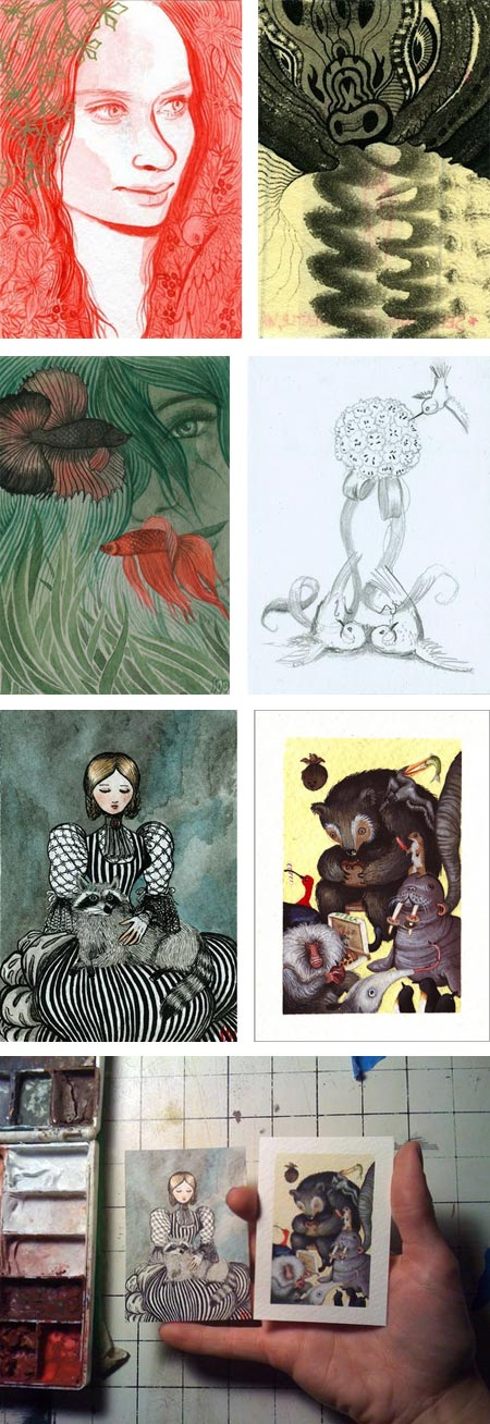 Mailbag art museum, Sarah Musi, Robert Hargrave, Tiffany Bozic, Allison Sommers