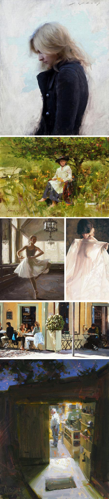 Waterhouse Gallery Great American Figurative Artists Exhibition 2010: Jeremy Lipking, Richard Schmid, Scott Burdick, Steve Hanks, Craig Nelson, Jennifer McChristian