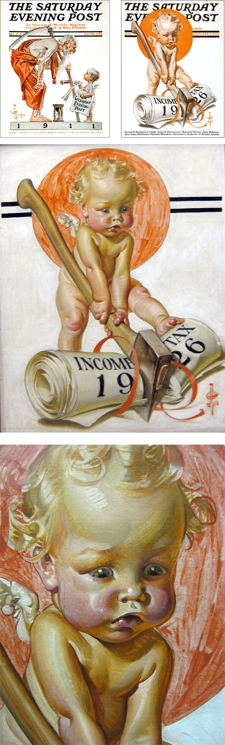 J.C. Leyendecker New Year's babies, Saturday Evening Post covers