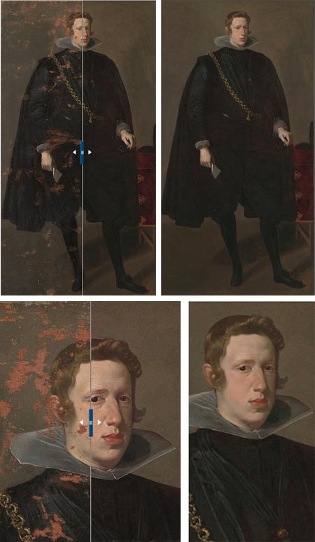 Velazquez, portrait of Philip IV restored