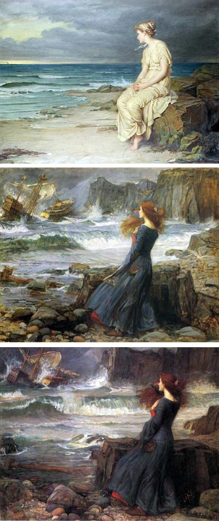 Miranda from Shakespeare's the Tempest, by John William Waterhouse