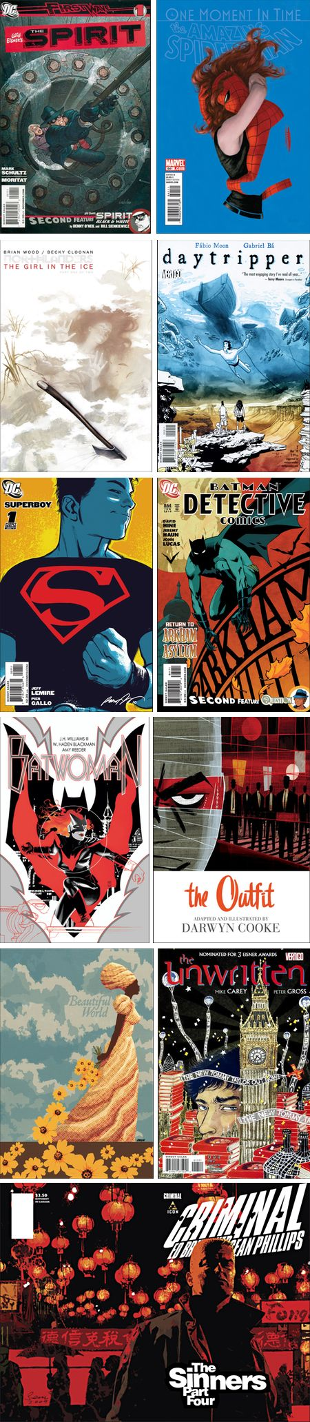 The 50 best comic covers of 2010 on Robot 6, .O. Ladronn, Paolo Rivera, Massimo Carnevale, Gabriel  Ba, Rafael Albuquerque, Cliff Chiang, J.H. Williams III, Darwyn Cooke, Dave Johnson, Yuko Shimiz, Sean Phillips