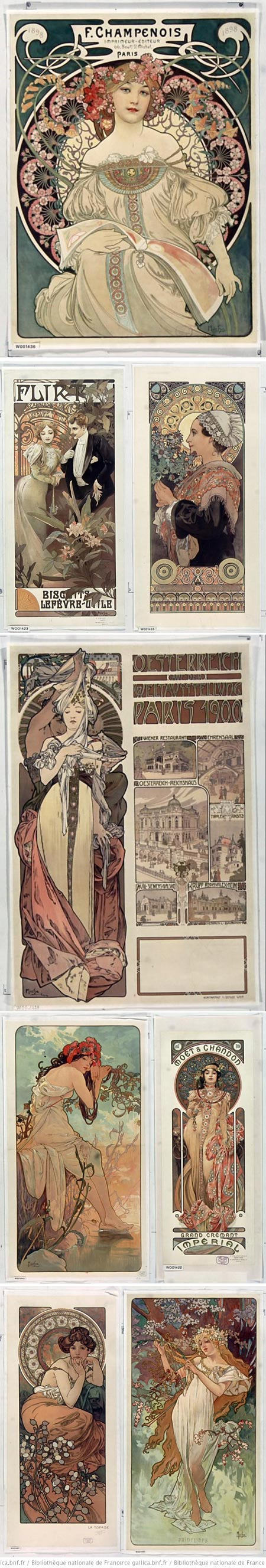 Alphonse Mucha on Gallica Digital Library