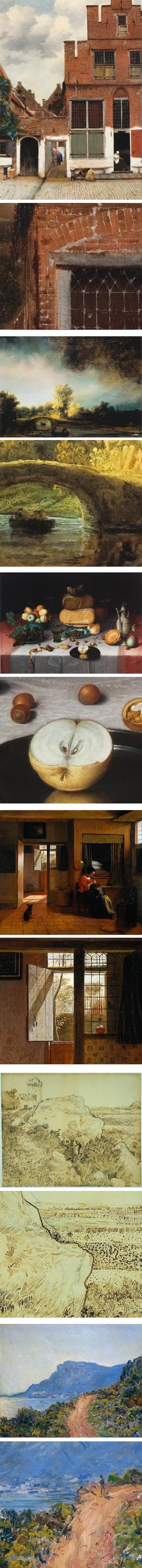 Hi res images in Rijksmuseum: Vermeer, Rembrandt, Floris van Dijk, Peter de Hooch, Van Gogh, Monet