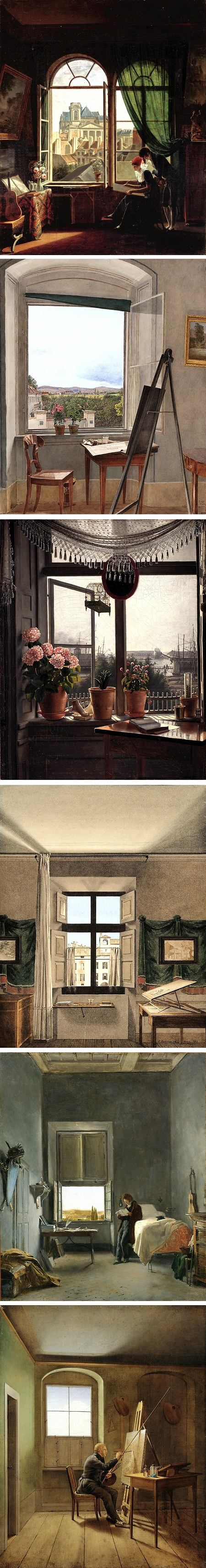 Rooms with a View: The Open Window in the 19th Century: Martin Drolling, Jacob Alt, Martinus Rorbye, Giovanni Battista de Gubernatis, Leon Cogniet, Georg Friedrich Kersting