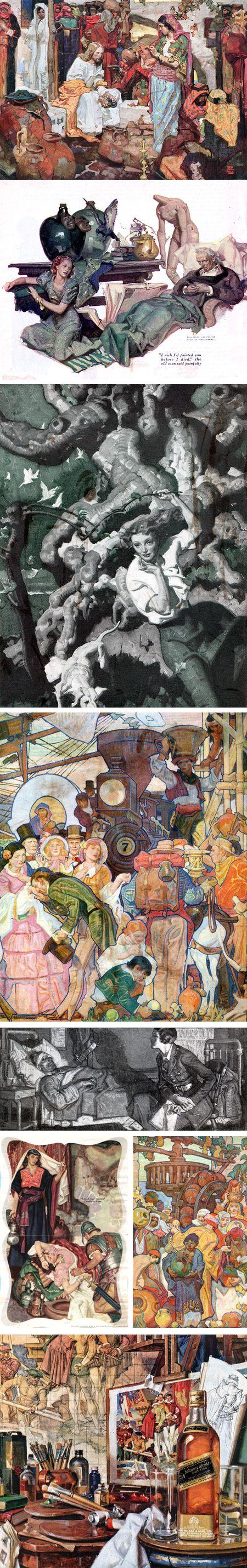Dean Cornwell magazine illustrations
