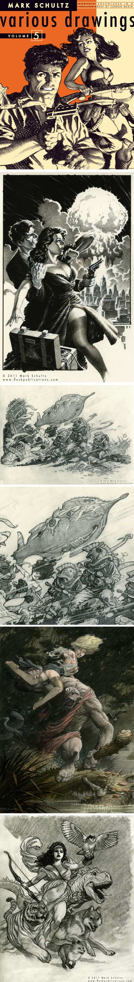 Mark Schultz: Various Drawings Volume 5