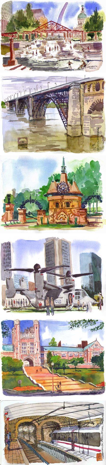 Sketching St. Louis - Michael Anderson