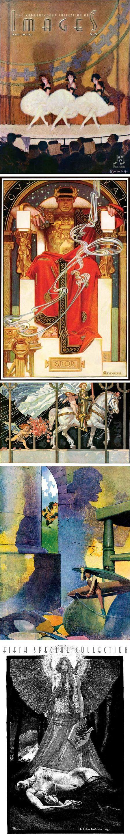 JVJ Publishing, ImageS magazine: Lejaren A. Hiller, J.C. Leyendecker, Julius Diez, Frank Godwin, Henri-Jules-Ferdinand Bellery-Desfontaines