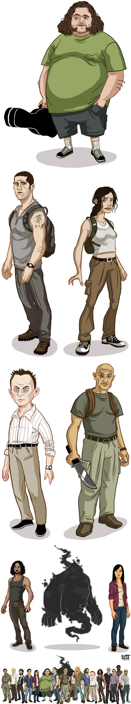 LOST: The Animated Series character designs  - Michael Myers