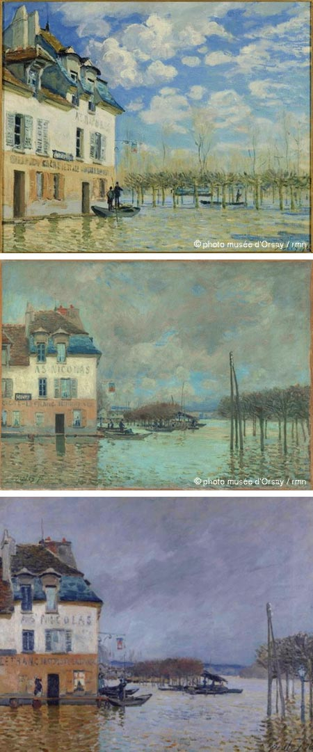 The Floods at Port Marly - Alfred Sisley