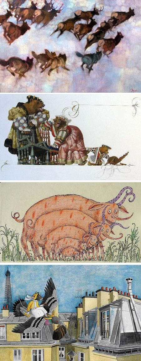 From Beasts to Babar: Ten Illustrators of Children's Books, Bernie Fuchs, Gennady Spirin, Henrik Drescher, Jeanne de Sainte Marie