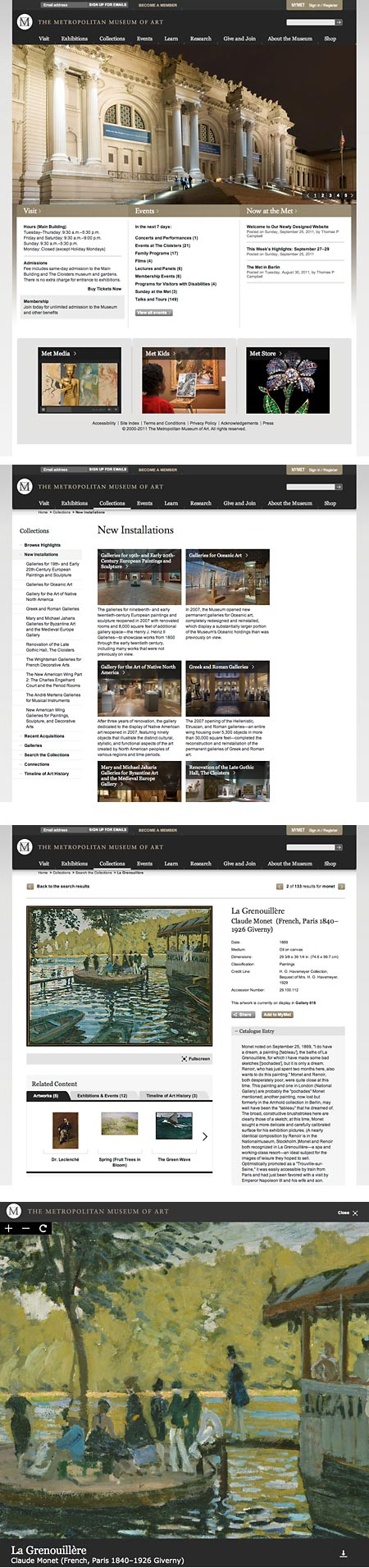 New Metropolitan Museum of Art website