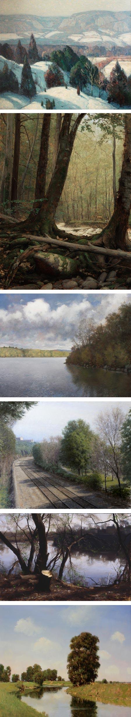 Landscapes at John Pence Gallery: John F. Carlson, Travis Schlaht, John Morra, Bennett Vadnais, Steven J. Levin, Donald Jurney