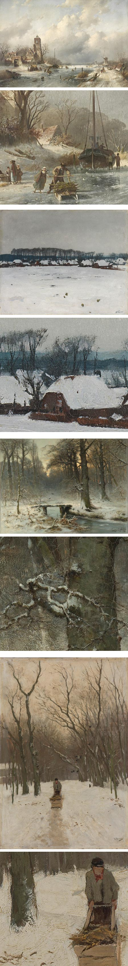 Dutch Winters at Schiphol, Rijksmuseum: Charles Lickert, Willem Witsen, Louis Apol, Anton Mauve