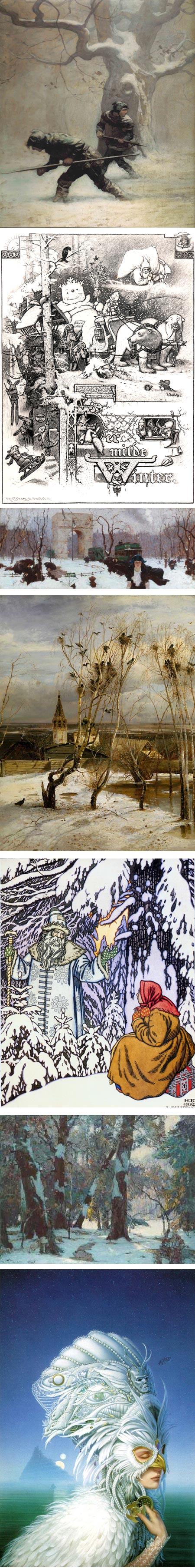 Picturing Winter on Tor.com: N.C. Wyeth, Hermann Vogel, Dean Cornwell, Aleksey Savrasov, Ivan Bilibin, John Fabian Carlson, Michael Whelan