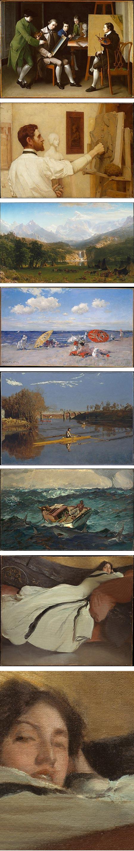 Met Museum's American Wing: Matthew Pratt, Kenyon Cox, Albert Bierstadt, William Merritt Chase, Thomas Eakins, Winslow Homer, John White Alexander