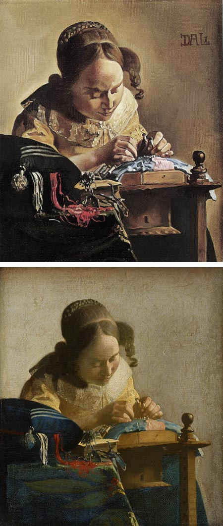 Vermeer's The Lacemaker, Dali's The Lacemaker