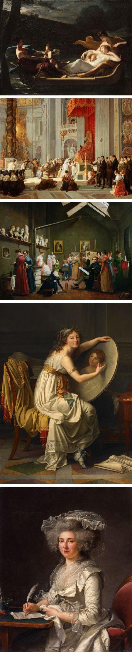 Painting as Paris Burned: Constance Mayer, Antoinette Cecile Hortense, Adrienne Marie Louise Grandpierre-Deverzy, Rose Adelaide Ducreux, Adelaide Labille-Guiard