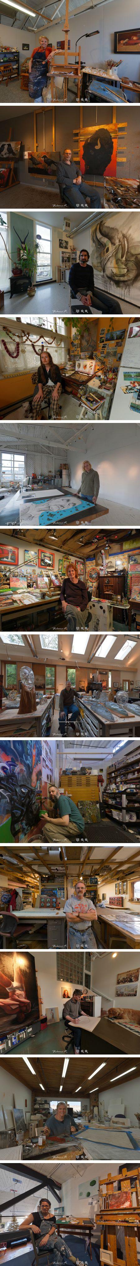 Artist studios in 360, Bradford Bohonus