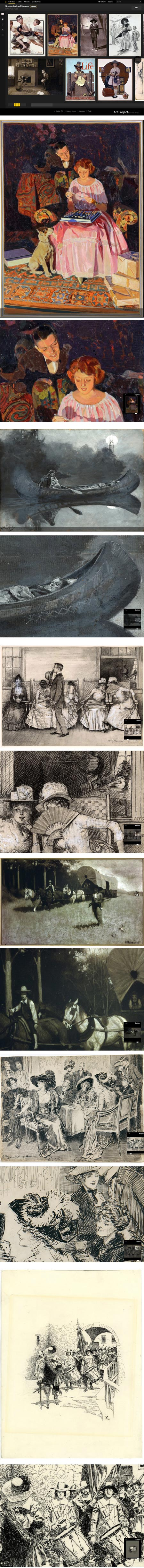 Norman Rockwell Museum on Google Art Project: Norman Rockwell, Howard Pyle, William Smedley,  Norman Rockwell, Charles Dana Gibson, Howard Pyle