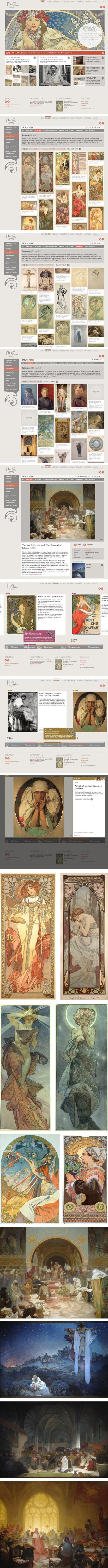 New Mucha Foundation website: Alphonse (Alfons) Mucha