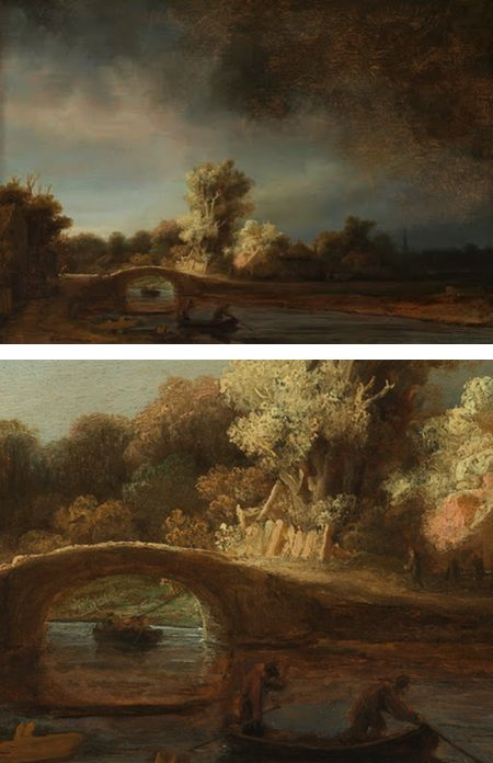 he Stone Bridge, Rembrandt