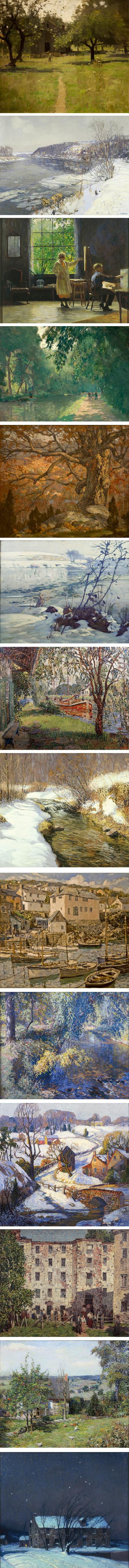 The Paainterly Voice, Pennsylvania Impressionism - William L. Lathrop, Edward Redfield, Daniel Garber, Rae Sloan Bredin, Arthur Meltzer, Charles Rosen, M. Elizabeth Price, Kenneth Nunamaker, Walter Elmer Schofield, Roy C. Nuse, Fern I. Coppedge, Robert Spencer, Roy Francis Taylor, George Sotter)