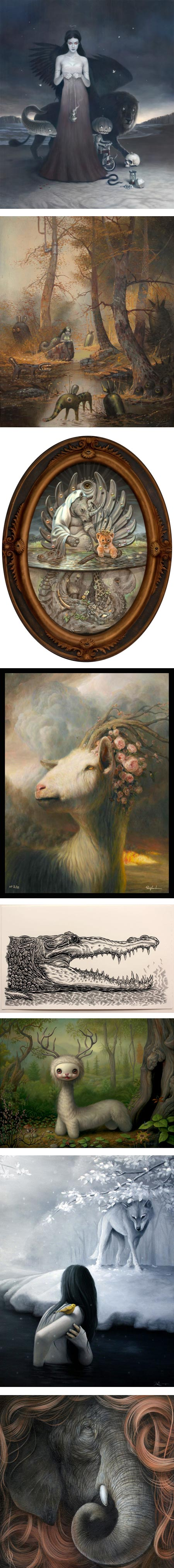 Kingdom Animalia: Tom Bagshaw,  Glenn Barr, Mark Garro, Martin Wittfooth, Mark Dean Veca, Mark Ryden, Joen Remmers, Dan May