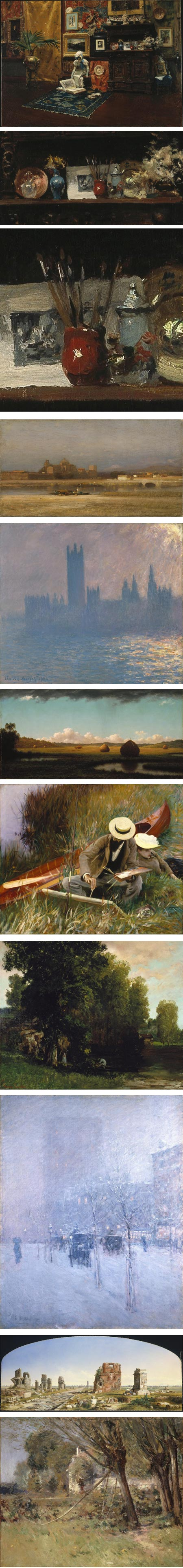Brooklyn Museum on Google Art Project: William Merritt Chase, Samuel Coleman, Claude Monet, Martin Johnson Heade, John Singer Sargent, Gustav Courbet, Childe Hassam, John Linton Chapman, Theodore Robinson