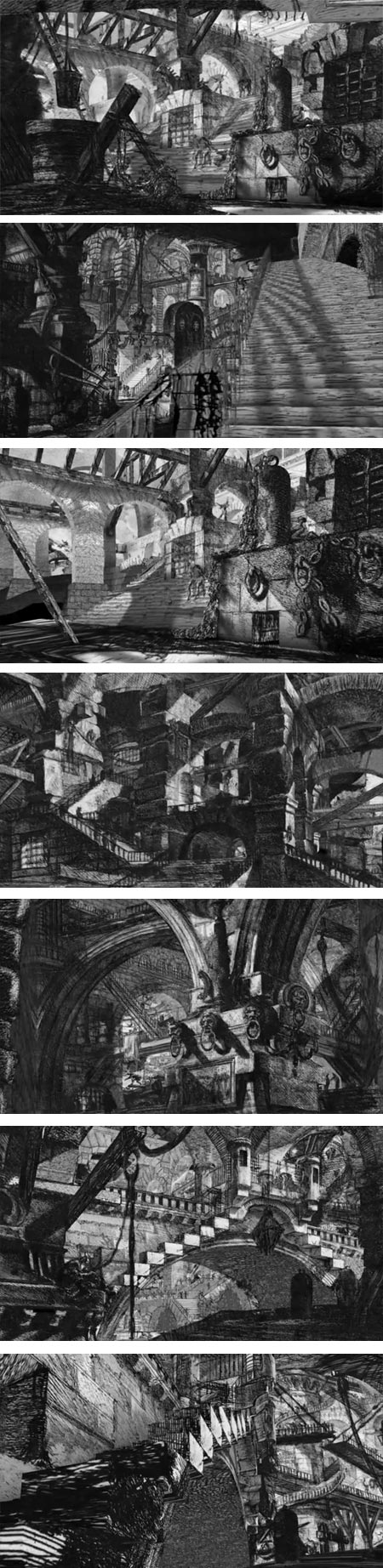 Piranesi's Carceri dinvenzione animated, Gr&eacute;goire Dupond