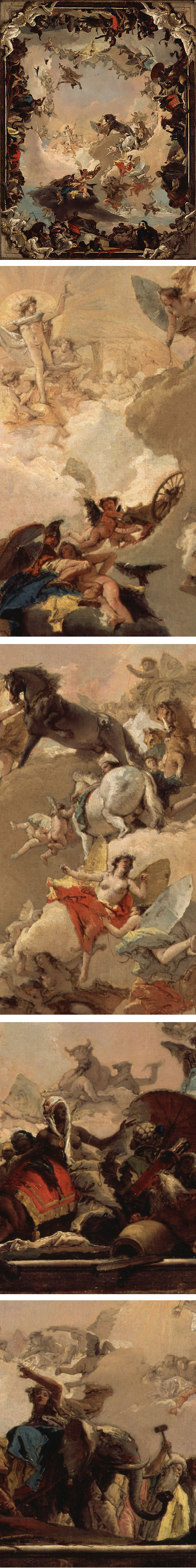 Allegory of the Planets and Continents by Giovanni Battista Tiepolo.