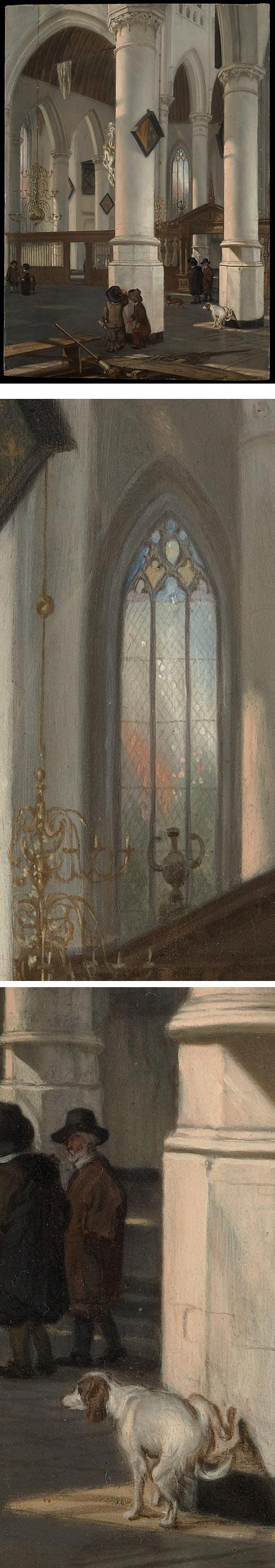 nterior of the Oude Kerk, Delft, Emanuel de Witte