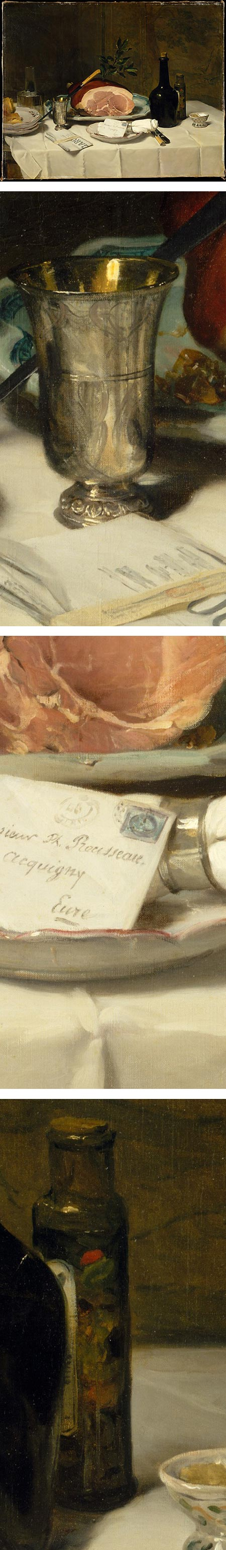 Still Life with Ham, Phillipe Rousseau