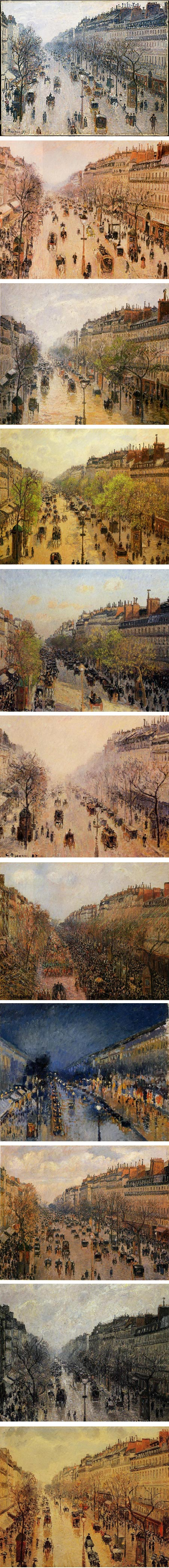 Camille Pissarro, views of the boulevard Montmartre