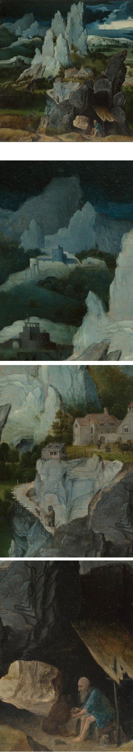St Jerome in Rocky Landscape, workshop of Joachim Patinir