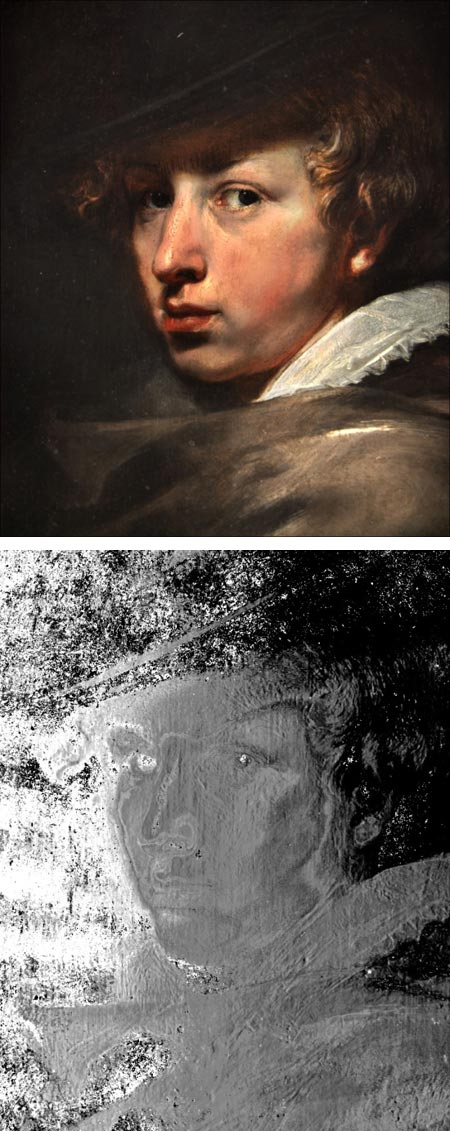Van Dyck portrait examined by 3d Coform Mini Dome