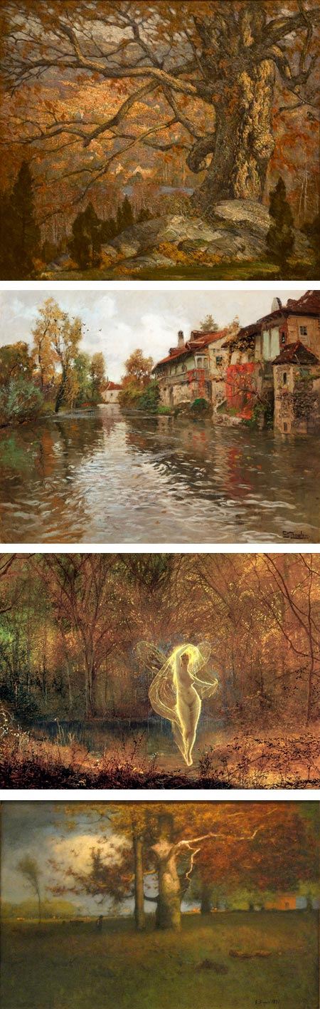 Picturing Autumn on Tor.com: Arthur Meltzer, Frits Thaulow, John Atkinson Grimshaw, George Inness