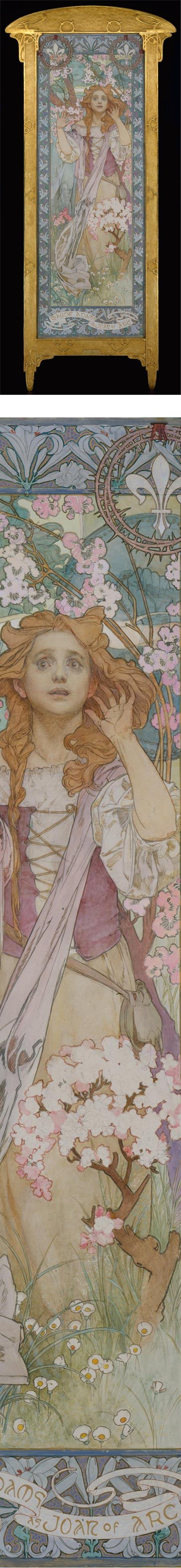 Maude Adams as Joan of Arc, Alfons (Alphonse) Mucha