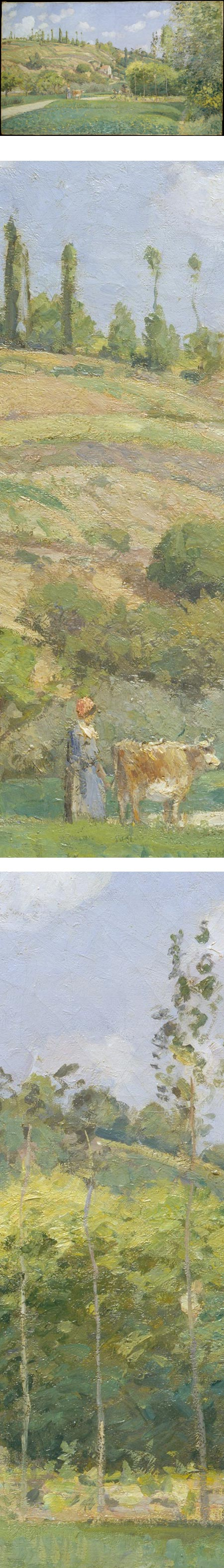 A Cowherd at Valhermeil, Auvers-sur-Oise by Camille Pissarro