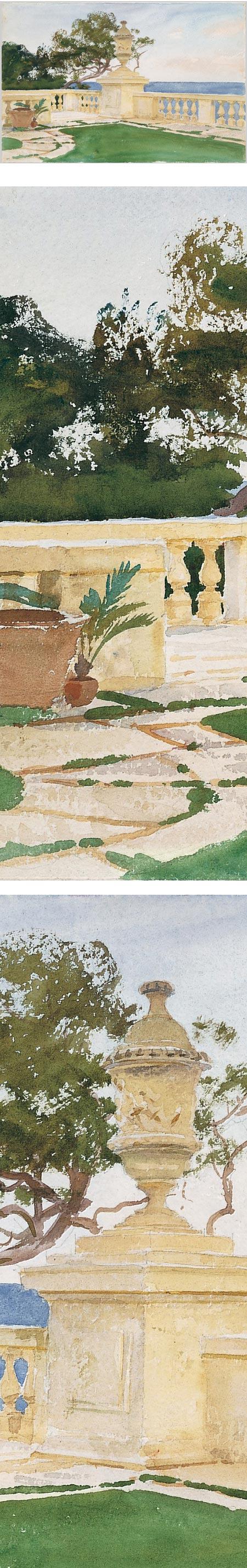 Terrace, Vizcaya, John Singer Sargent