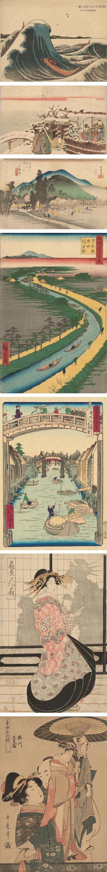 Japanese Prints from the 18th and 19th centuries: Katsushika Hokusai, Katsukawa Shunko&#772; Ii, Utagawa Hirosige I, Utagawa Hirosige, Shosai Ikkei, Kikugawa Eiza, Kitagawa Utamaro