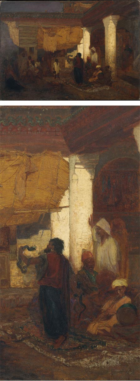 Snake Charmer at Tangier, Africa by Louis Comfort Tiffany