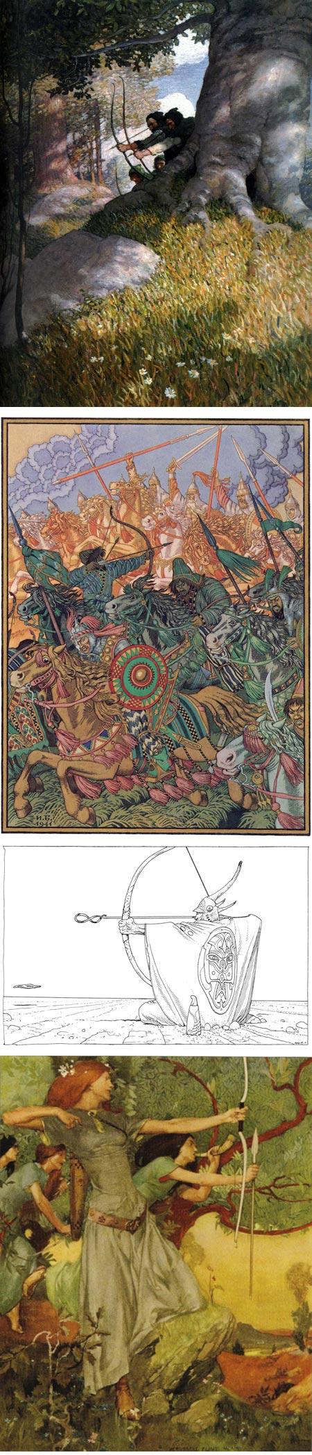 Picturing Archers on Tor.com: N.C. Wyreth, Ivan Bilibin, Jean Giraud, William Russell Flint