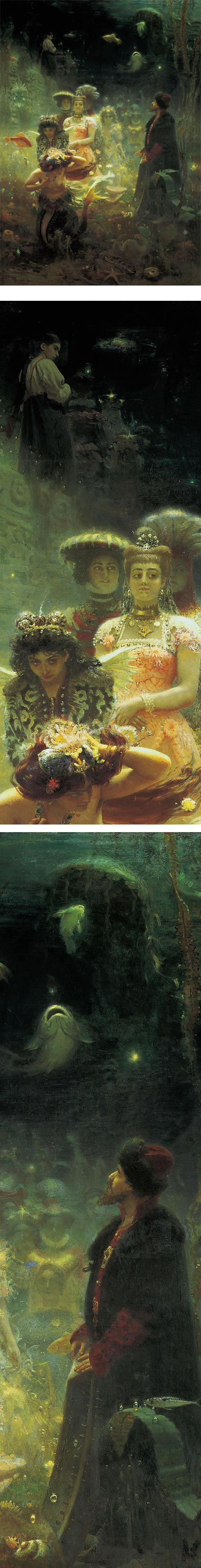 Sadko in the Underwater Kingdom, Ilya Repin 