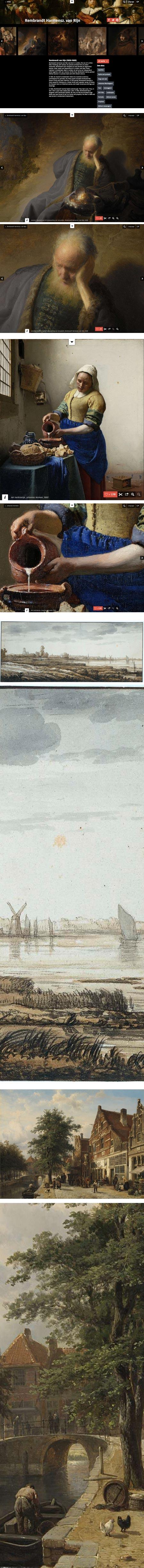 New Rikjsmuseum website: Rembrandt, Vermeer, Aelbert Cuyp, Cornelis Springer