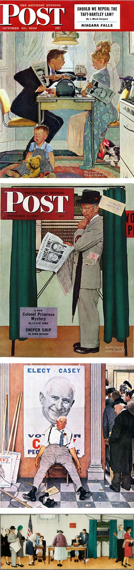Voting illustrations - Norman Rockwell