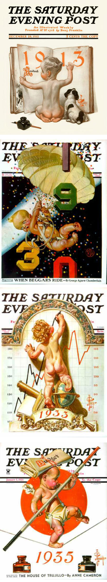 J.C. Leyendecker New Years babies