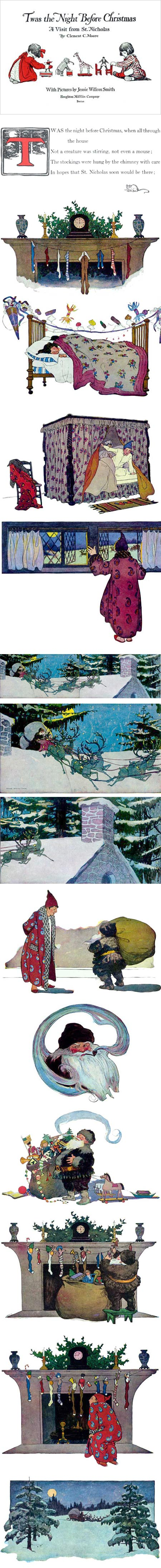 Twas the Night Before Christmas: A Visit from St. Nicholas illustrations by Jessie Willcox Smith